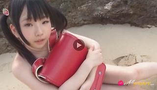 Amazing Asian teen Hinase Yuihara outdoors at the beach