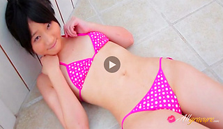 Nana naughty Asian teen model is a cock tease in her bikini