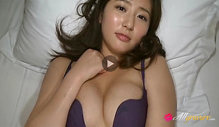 Yuri Murakami Asian model in barely there lingerie